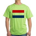 Netherlands Flag Green T-Shirt