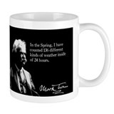 Mark Twain, Funny Weather Quote, Mug