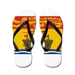 New Brunswick Flag Flip Flops