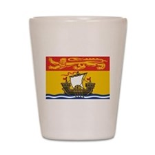 New Brunswick Flag Shot Glass