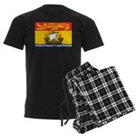 New Brunswick Flag Men's Dark Pajamas