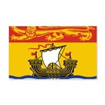 New Brunswick Flag 22x14 Wall Peel