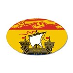 New Brunswick Flag 38.5 x 24.5 Oval Wall Peel