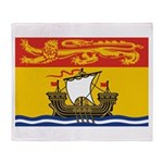 New Brunswick Flag Throw Blanket