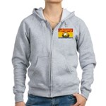 New Brunswick Flag Women's Zip Hoodie