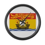 New Brunswick Flag Large Wall Clock