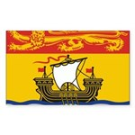 New Brunswick Flag Sticker (Rectangle 10 pk)