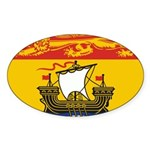 New Brunswick Flag Sticker (Oval 10 pk)