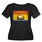 New Brunswick Flag Women's Plus Size Scoop Neck Da