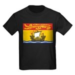 New Brunswick Flag Kids Dark T-Shirt