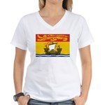 New Brunswick Flag Women's V-Neck T-Shirt