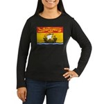New Brunswick Flag Women's Long Sleeve Dark T-Shir