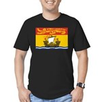 New Brunswick Flag Men's Fitted T-Shirt (dark)