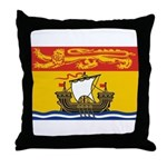 New Brunswick Flag Throw Pillow