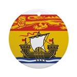 New Brunswick Flag Ornament (Round)