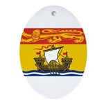 New Brunswick Flag Ornament (Oval)