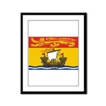 New Brunswick Flag Framed Panel Print