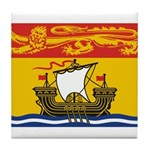 New Brunswick Flag Tile Coaster