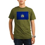 New York Flag Organic Men's T-Shirt (dark)