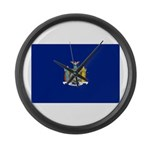 New York Flag Large Wall Clock