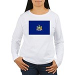 New York Flag Women's Long Sleeve T-Shirt