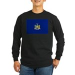 New York Flag Long Sleeve Dark T-Shirt
