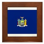 New York Flag Framed Tile