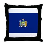 New York Flag Throw Pillow