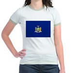 New York Flag Jr. Ringer T-Shirt