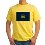 New York Flag Yellow T-Shirt
