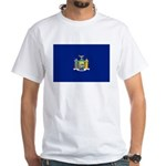 New York Flag White T-Shirt
