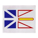 Newfoundland Flag Throw Blanket