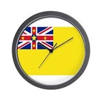 Niue Flag Wall Clock