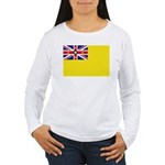 Niue Flag Women's Long Sleeve T-Shirt