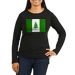 Norfolk Island Flag Women's Long Sleeve Dark T-Shi