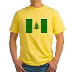 Norfolk Island Flag Yellow T-Shirt