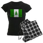 Norfolk Island Flag Women's Dark Pajamas