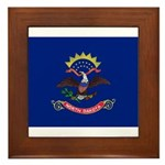 North Dakota Flag Framed Tile