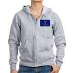 North Dakota Flag Women's Zip Hoodie
