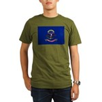 North Dakota Flag Organic Men's T-Shirt (dark)