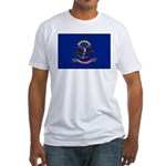 North Dakota Flag Fitted T-Shirt