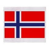 Norway Flag Throw Blanket