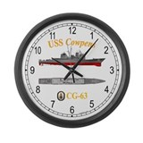 USS Cowpens CG-63 Large Wall Clock