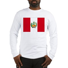 Peru Flag Long Sleeve T-Shirt
