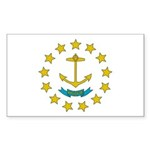 Rhode Island Flag Sticker (Rectangle 50 pk)