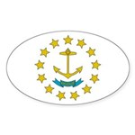 Rhode Island Flag Sticker (Oval)