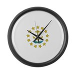 Rhode Island Flag Large Wall Clock
