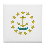 Rhode Island Flag Tile Coaster