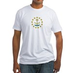 Rhode Island Flag Fitted T-Shirt