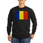 Romania Flag Long Sleeve Dark T-Shirt